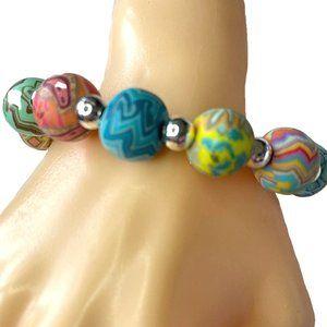 JilZara Clay Beads Multi-Colored Bracelet